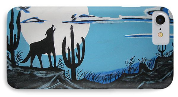 IPhone Case featuring the painting Coyote by Jeffrey Koss