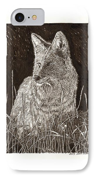 Coyote Night Hunting IPhone Case