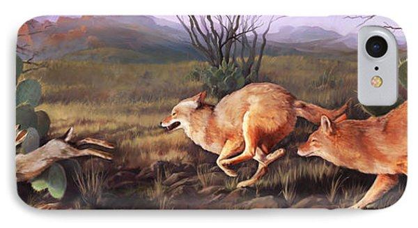 Coyote Run IPhone Case by Rob Corsetti