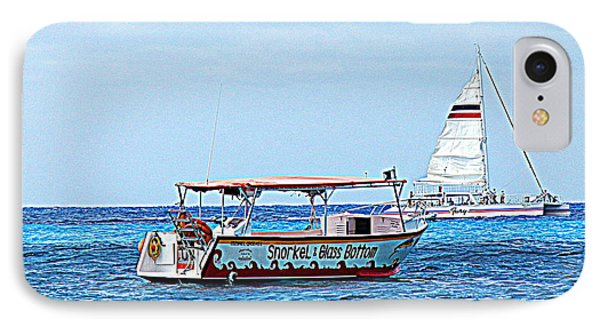Cozumel Excursion Boats IPhone Case by Debra Martz