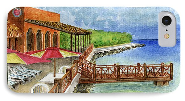 Cozumel Mexico Little Pier IPhone Case by Frank Hunter