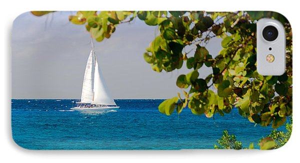 IPhone Case featuring the photograph Cozumel Sailboat by Mitchell R Grosky