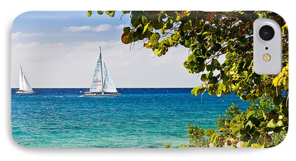 IPhone Case featuring the photograph Cozumel Sailboats by Mitchell R Grosky