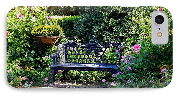 Cozy Southern Garden Bench Phone Case by Carol Groenen