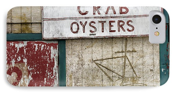 Crab And Oysters Phone Case by Carol Leigh