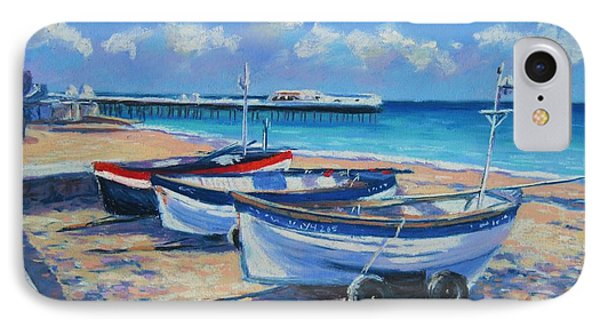 Crab Boats On Cromer Beach IPhone Case by John Clark