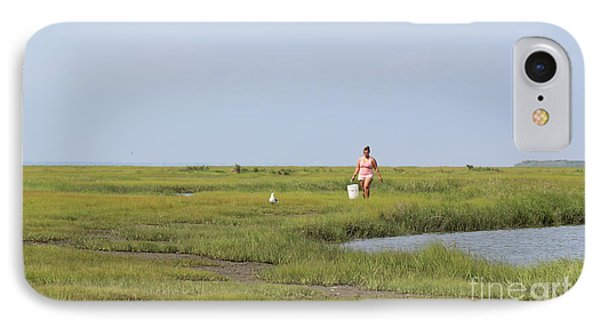 Crabbing At Mystic Island IPhone Case by David Jackson