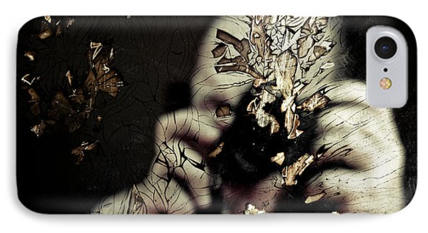 Cracked Portrait 01 Phone Case by Grebo Gray
