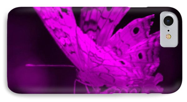 Cracked Wing Close Purple IPhone Case