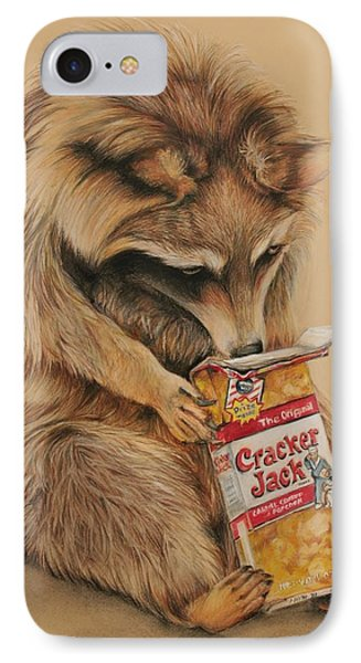 Cracker Jack Bandit IPhone Case by Jean Cormier