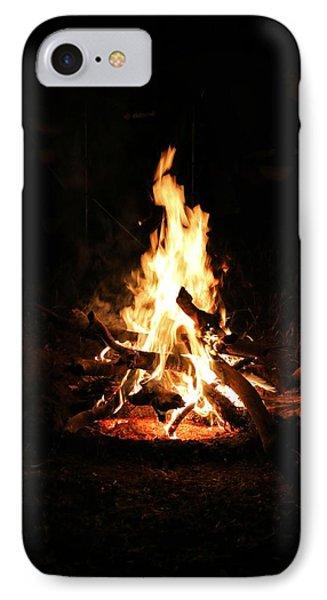 Crackling Bush Campfire IPhone Case