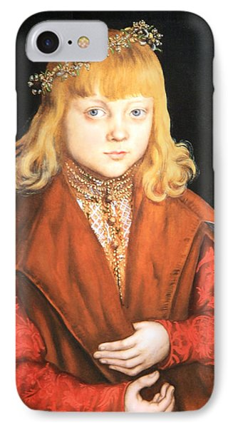 Cranach's A Prince Of Saxony IPhone Case by Cora Wandel