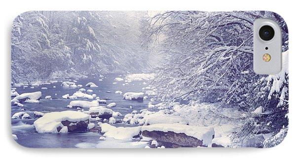 Cranberry River Heavy Snow IPhone Case by Thomas R Fletcher