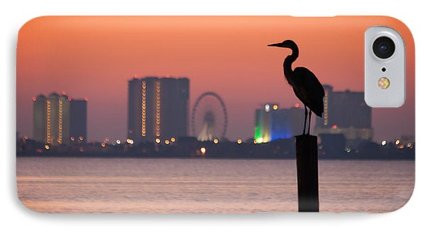Crane On A Pier IPhone Case by Tim Stanley