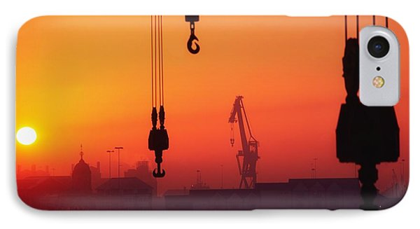 Cranes At Sunset Phone Case by The Irish Image Collection