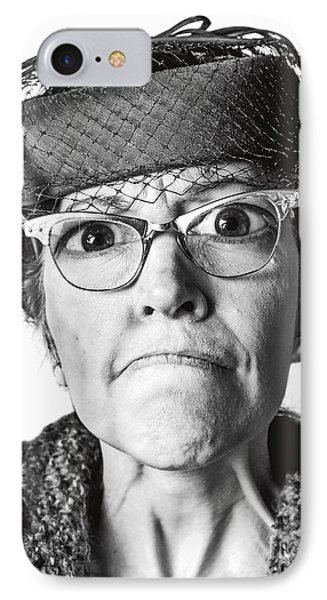 Cranky Old Lady Phone Case by Diane Diederich