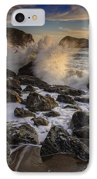 Crashing Sunset IPhone Case by Rick Berk