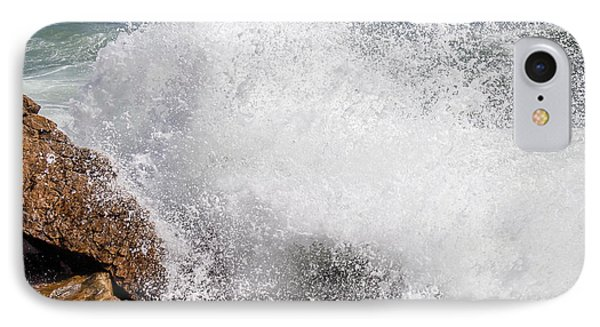 IPhone Case featuring the photograph Crashing Wave Acadia  by Trace Kittrell