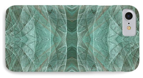 Crashing Waves Of Green 1 - Panorama - Abstract - Fractal Art Phone Case by Andee Design
