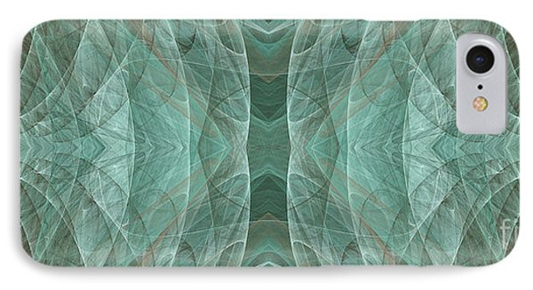 Crashing Waves Of Green 2 - Panorama - Abstract - Fractal Art Phone Case by Andee Design