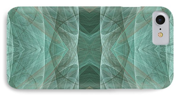 Crashing Waves Of Green 4 - Square - Abstract - Fractal Art Phone Case by Andee Design