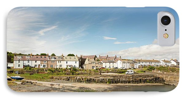 Craster Village And Harbour IPhone Case by Ashley Cooper