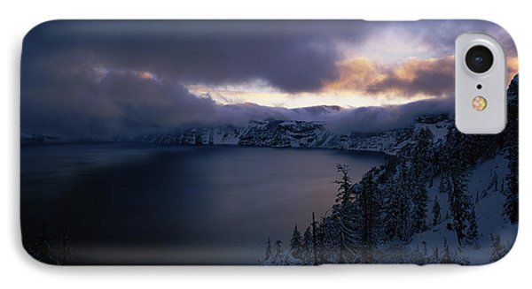 Crater Lake At Sunrise, South Rim IPhone Case by Panoramic Images