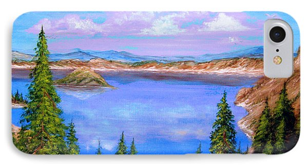 Crater Lake Oregon IPhone Case by Patrice Torrillo