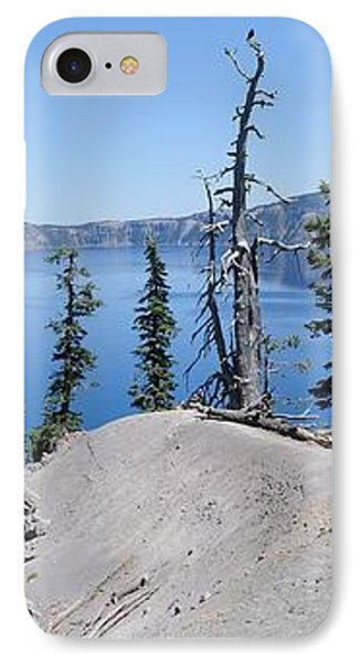Crater Lake Scenic Panorama Phone Case by John Kelly