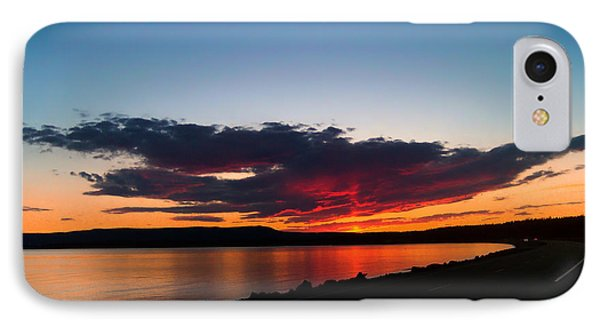 Crater Lake Yellowstone National Park Montana Phone Case by Thomas Woolworth