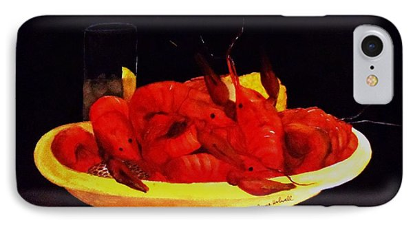 Crawfish Small Portion Phone Case by June Holwell