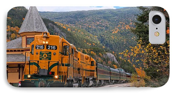 Crawford Notch Train Depot IPhone Case by Adam Jewell