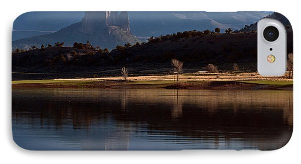 IPhone Case featuring the photograph Crawford Reservoir And Needlrock by Eric Rundle