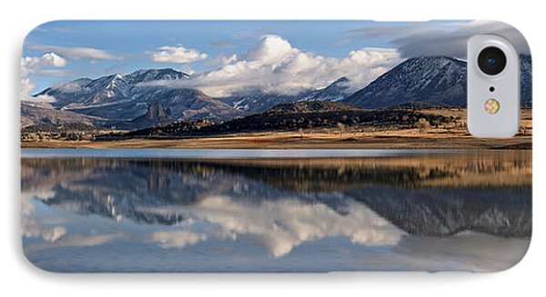 Crawford Reservoir And The West Elk Mountains IPhone Case by Eric Rundle