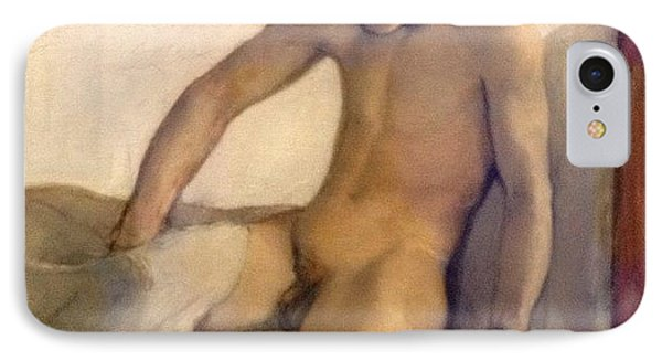 Crawling Out Of Bed #naked #nude #boy IPhone Case by Dimitre Mihaylov