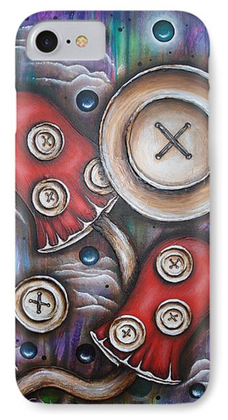 Crazy Button Mushrooms Phone Case by Krystyna Spink