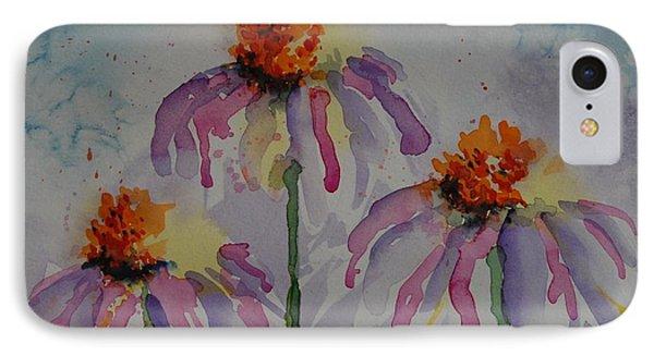 Crazy Cone Flowers IPhone Case by Gretchen Bjornson