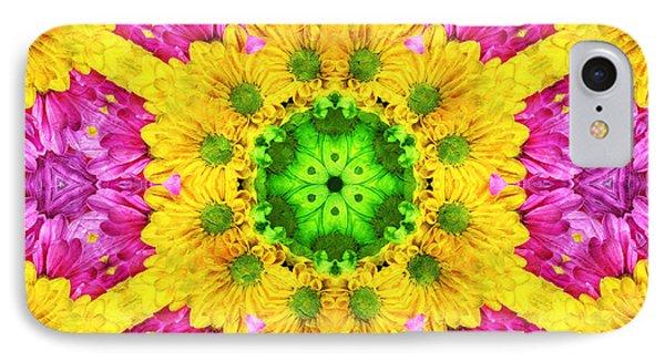 Crazy Daises - Spring Flowers - Bouquet - Gerber Daisy Wanna Be - Kaleidoscope 1 IPhone Case