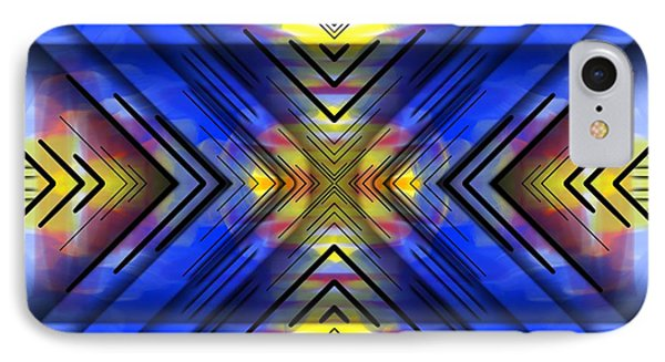 IPhone Case featuring the digital art Crazy Daze by Brian Johnson
