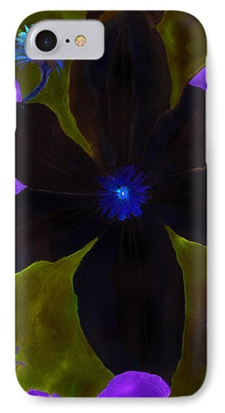 Crazy Exposure Clematis IPhone Case by Ann Michelle Swadener