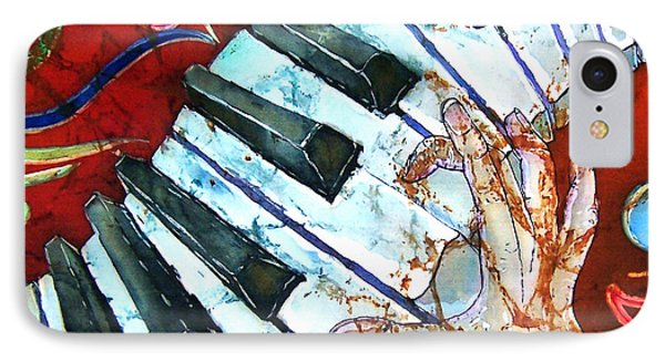 Crazy Fingers Piano Square Phone Case by Sue Duda