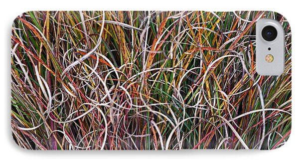Crazy Grasses IPhone Case by Judy Wolinsky