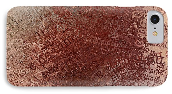 Crazy Grunge Type Abstract IPhone Case by Andrea Auletta