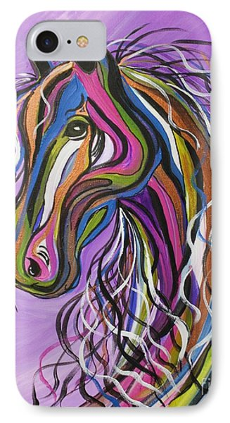 IPhone Case featuring the painting Crazy Horse by Janice Rae Pariza