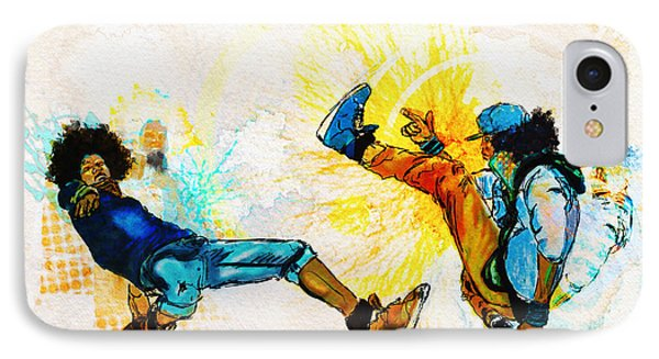 Crazy Legs IPhone Case by Howard Barry