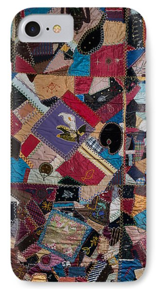 IPhone Case featuring the painting Crazy Quilt by Izabella West