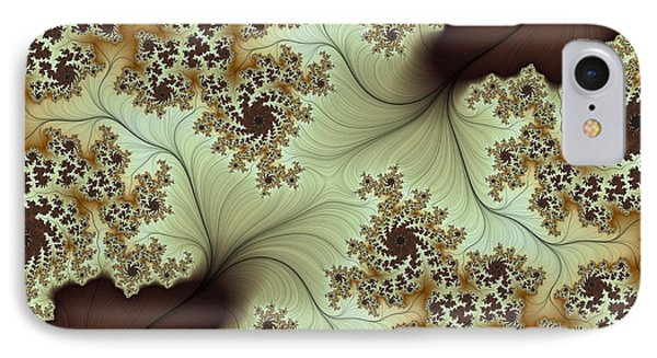 IPhone Case featuring the digital art Creamed Coffee by Lea Wiggins