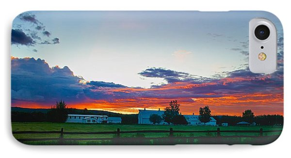 IPhone Case featuring the photograph Creamer's Diary Sunrise Fairbanks Alaska by Michael Rogers
