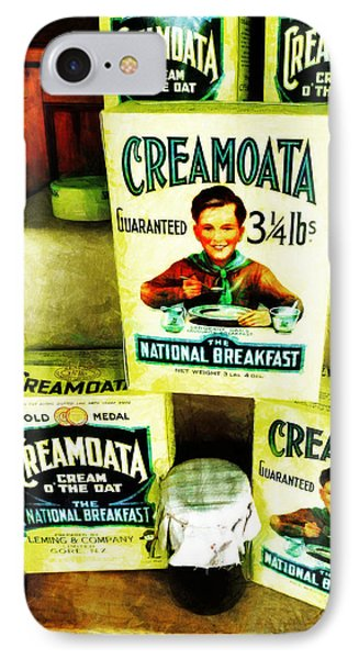 Creamoata - Cream  O' The Oat Phone Case by Steve Taylor