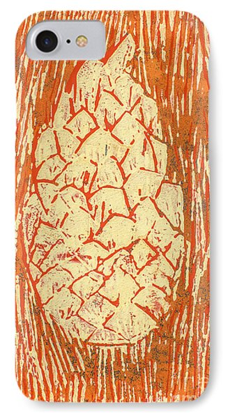 Creamy Pine Cone IPhone Case by Amanda Elwell